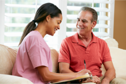 Counseling a man for his own start up home care business